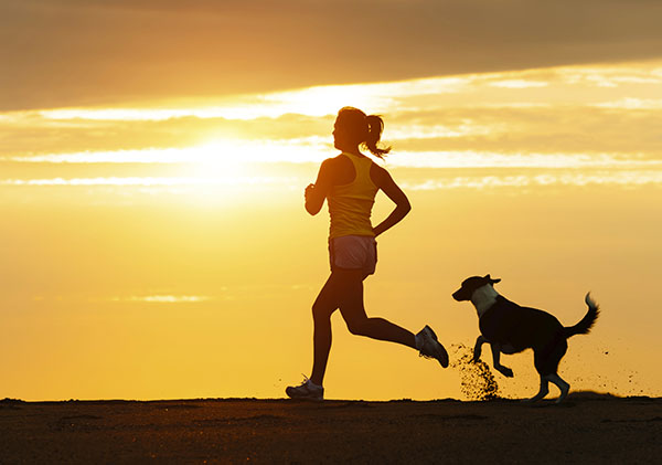 running with pets